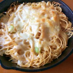 ねぎスパゲティデミグラスソース焼き