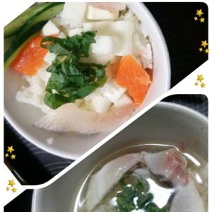 二度美味しい♪ミニ海鮮丼とブリ茶漬け