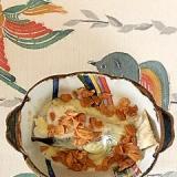 真鱈のトースター焼きにフライドガーリック