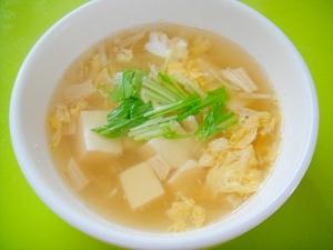 豆腐とえのき卵のスープ