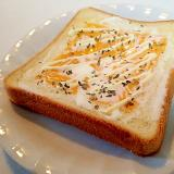 チェダーとマスカルポーネチーズのバジルマヨトースト