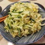 白菜・豆もやし・きゅうりのゆず胡椒マヨ和え