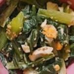 簡単!小松菜と卵のオイスター炒め