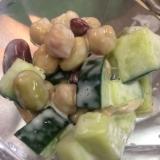 簡単混ぜるだけ★きゅうりと豆のサラダ