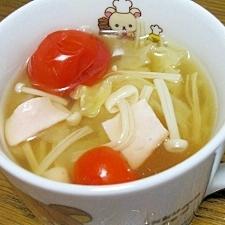 キャベツとトマトのコンソメスープ