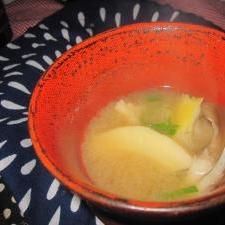 舞茸とタケノコのお味噌汁❤