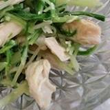水菜とささみの胡麻和え