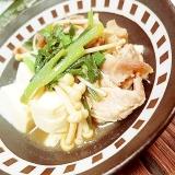 ポン酢xラー油で中華風ニラ豆腐