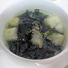 中華風でも使ってね♪麩の中華スープ