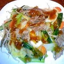 フライパンのみ☆野菜と牛肉のヘルシー蒸し焼き