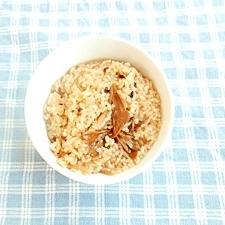 舞茸と黒米の炊き込みご飯