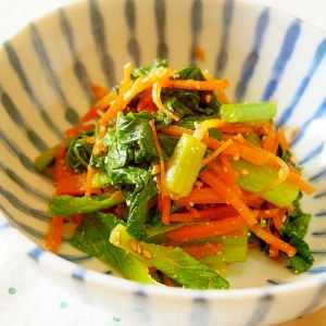 小松菜のごま和え