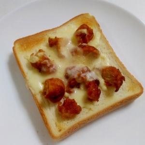 朝食に☆唐揚げのハーブチーズトースト
