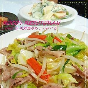 定番基礎おかず☆うまみ入り野菜たっぷり肉野菜炒め