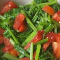 かぶ菜とトマトのおひたし