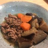 ササッと作れる。牛肉と茄子の炊いたん。