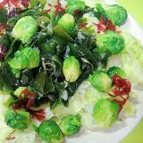 芽キャベツと海藻レタスのサラダ
