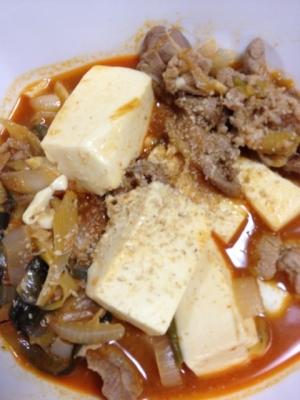 豆腐チゲ☆あつあつピリ辛☆