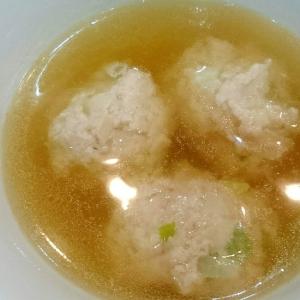 あったか★ふわふわ鶏団子スープ♪
