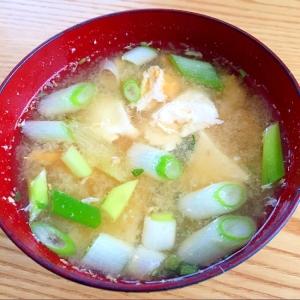 ネギと豆腐と卵の味噌汁☆