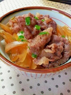 ✿味付けはめんつゆだけの超簡単な❤牛丼