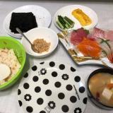 ちらし寿司の素で手巻き寿司パーティー