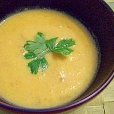 フードプロセッサーで簡単豆乳かぼちゃスープ