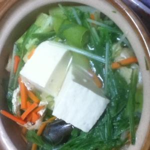 白だしハリハリ湯豆腐