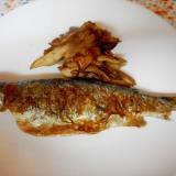 ニジマスと舞茸のバターソテー