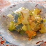 ブロッコリーのめんつゆ卵炒め