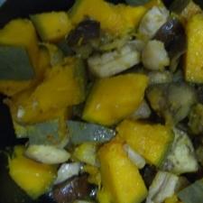 ::フライパンで かぼちゃ・茄子の 炒め煮::