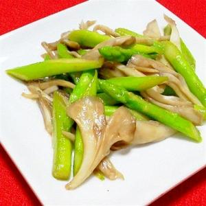 舞茸とアスパラの塩バター炒め(お弁当にも)