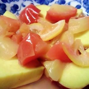 紅玉とさつま芋のレモン煮
