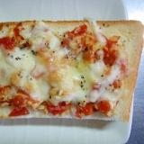 福神漬け&ピーナッツのマヨチーズトースト
