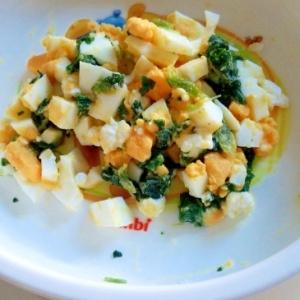 離乳食☆ほうれん草と卵とチーズのサラダ