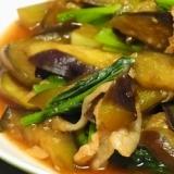 ごはんに良く合う!なすと小松菜のオイスターソース炒め煮
