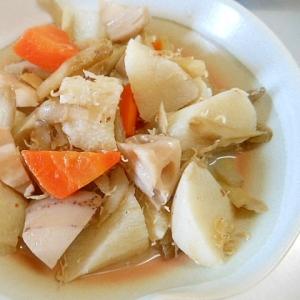 圧力鍋で★根菜とちりめん雑魚の白だし煮☆