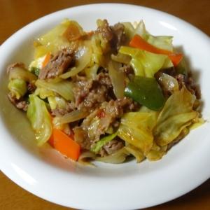 牛肉とキャベツの中華炒め