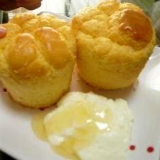 卵1個!しかも紙コップで簡単☆はちみつ米粉シフォン