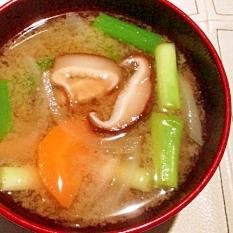 椎茸の軸は捨てないよ!エコお味噌汁。