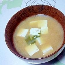昆布茶で味噌汁++