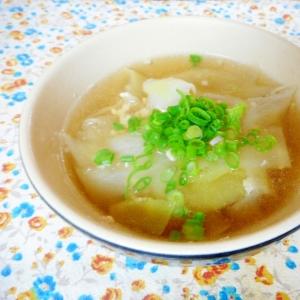 大根の皮とひき肉の和風スープ