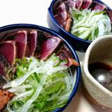 鰹のたたきを美味しく食べるタレ&薬味