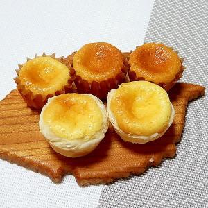 マスカルポーネでチーズスフレ☆お手軽、一口サイズで