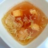 レンジで♪つくねとだし巻き卵とキャベツの和風スープ