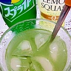 アイス☆グリーンレモンスプライト♪