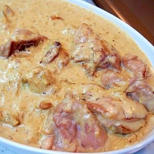 カリフラワーとチキンのクリーム煮