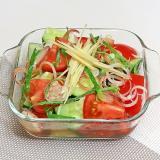 きゅうりとトマトのもずく酢和え☆切って混ぜるだけ