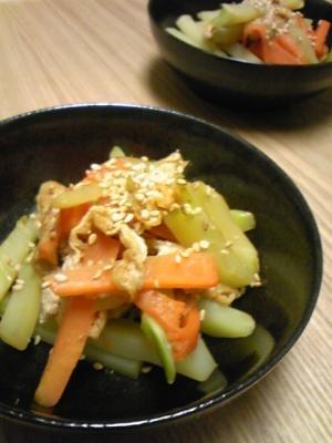 ブロッコリーの茎のポン酢炒め☆節約