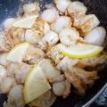ベビーホタテのレモン風味マリネ
